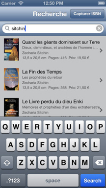app catalogue macro editions - recherche menu